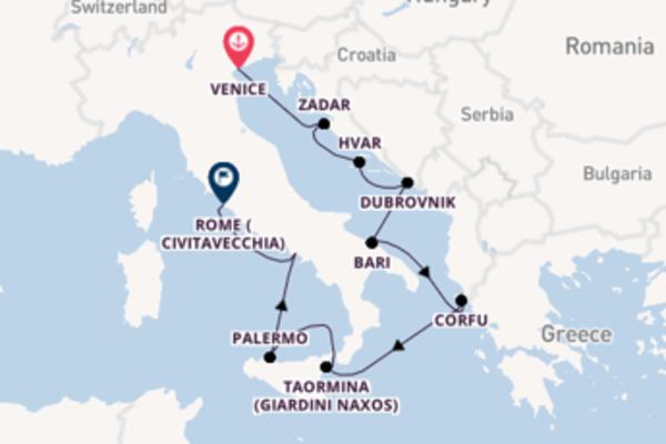 Cruising with Silversea from Venice to Rome (Civitavecchia)