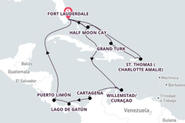 Jornada de 19 dias até Fort Lauderdale com o Zuiderdam