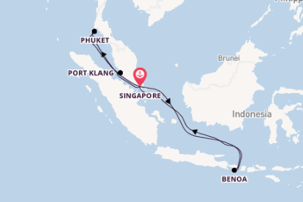 11-daagse droomcruise vanuit Singapore