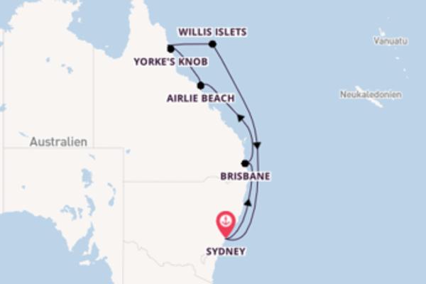 In 11 Tagen nach Sydney über Port Douglas