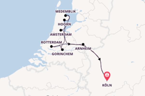 In 6 Tagen nach Köln über Amsterdam