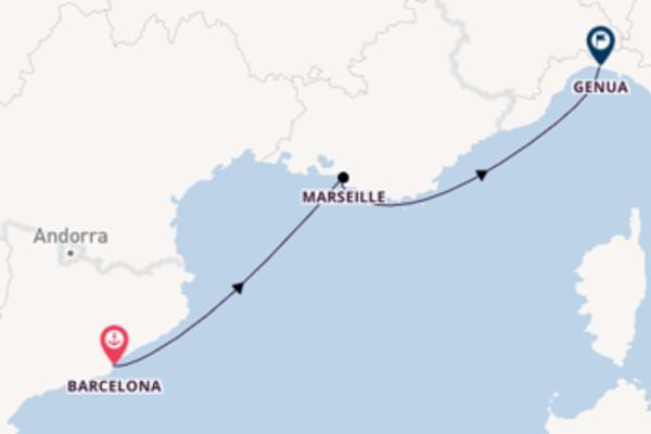 Beleef Barcelona, Marseille en Genua