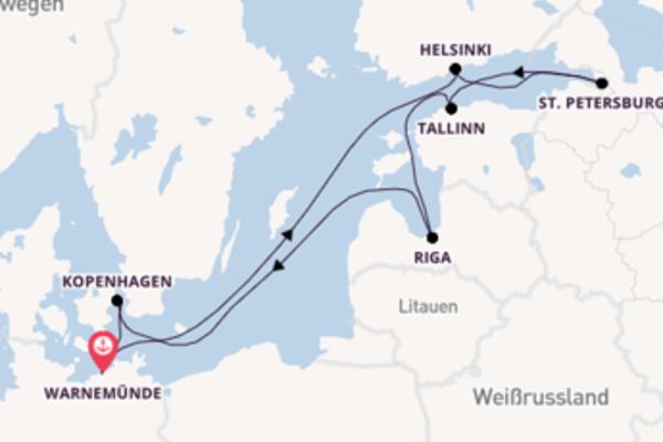 11 Tage Ostsee Kreuzfahrt