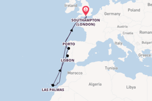 12 day cruise with the Celebrity Silhouette to Southampton (London)