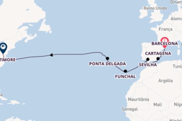 Navegando no Carnival Legend por 15 dias