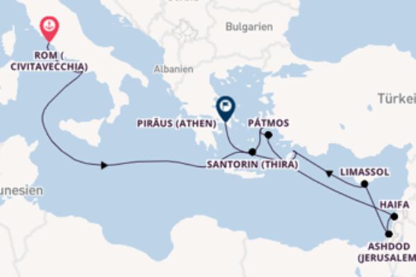 Reisen Sie von Rom nach Athen