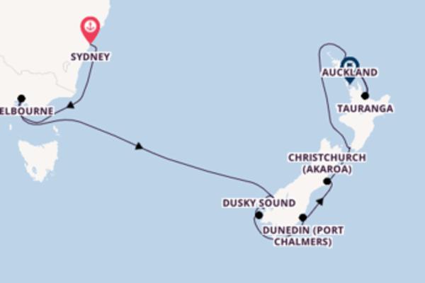 Cruise from Sydney to Auckland via Wellington