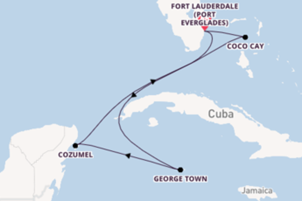 7 day cruise with the Odyssey of the Seas to Fort Lauderdale (Port Everglades)