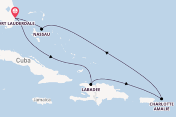 Spettacolarecrociera verso Fort Lauderdale