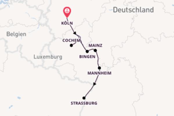 8-tägige Kreuzfahrt ab Köln