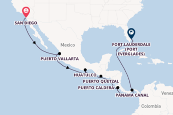 15 day trip to Fort Lauderdale (Port Everglades) from San Diego