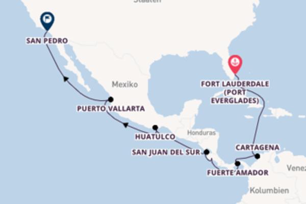 Zauberhafte Kreuzfahrt von Fort Lauderdale nach Los Angeles