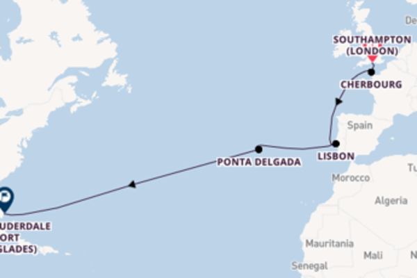 Expedition with Princess Cruises from Southampton (London) to Fort Lauderdale (Port Everglades)