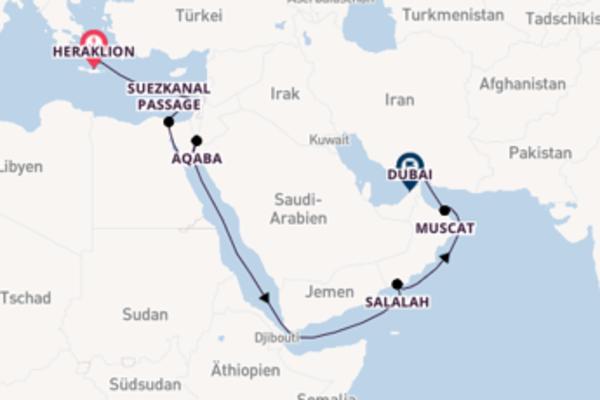 16 Tage Emirate und Orient Kreuzfahrt