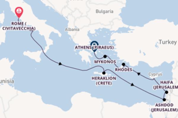 Cruise with Viking Ocean Cruises from Rome (Civitavecchia) to Athens (Piraeus)