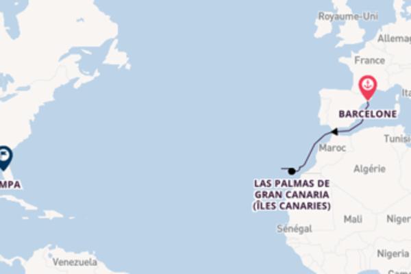 Douce croisière vers Tampa via Las Palmas de Gran Canaria (Îles Canaries)