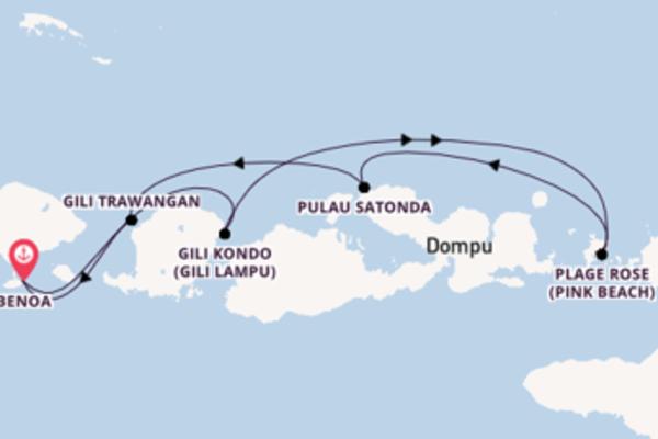 8 jours pour découvrir Gili Kondo à bord du bateau Star Clipper
