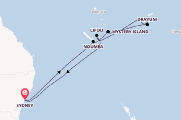 14 day expedition on board the Royal Princess from Sydney