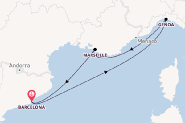 Magnificent cruise from Barcelona with MSC Cruises