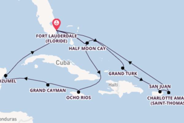 15 jours de navigation à bord du bateau Eurodam depuis Fort Lauderdale