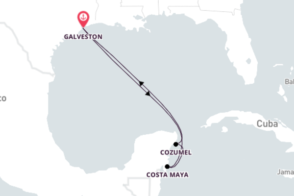 Experience Memorable Costa Maya from Galveston