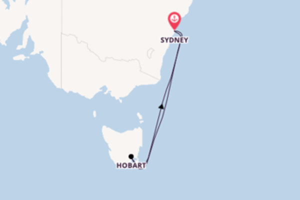 6 day cruise with the Ovation of the Seas to Sydney