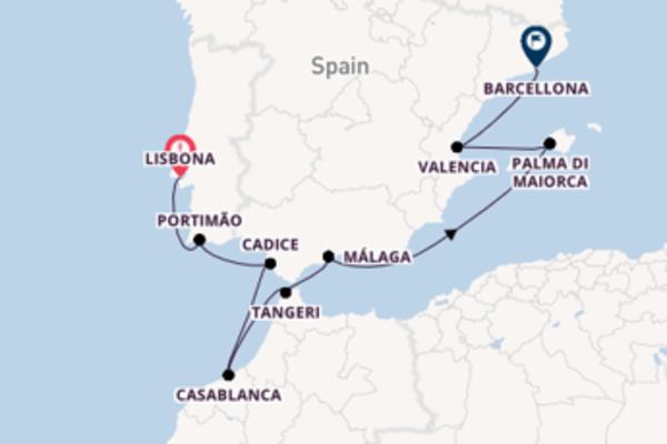 Lasciati incantare da Tangeri e Barcellona