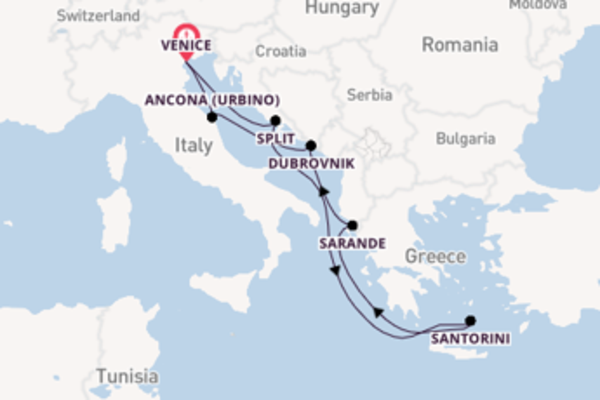 Voyage from Venice with the MSC Sinfonia