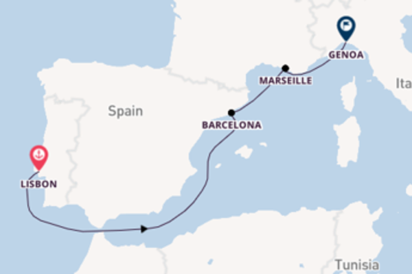Journey with MSC Cruises from Lisbon