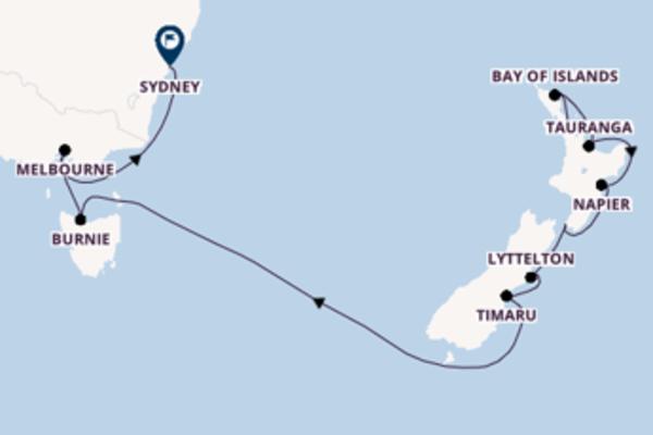 15 Tage Pazifik Kreuzfahrt