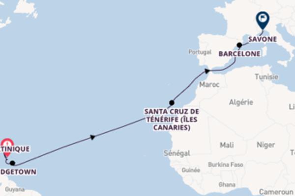 Croisière de 16 jours vers Savone avec Costa Croisières