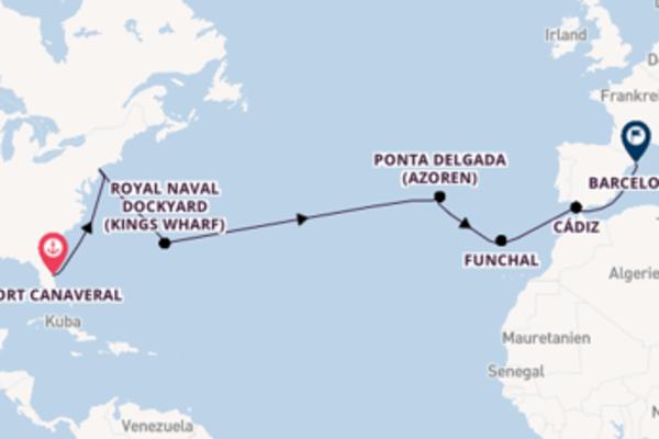 Port Canaveral und Barcelona entdecken