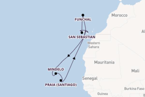 Cruise in 15 dagen naar Santa Cruz de Tenerife met TUI Cruises