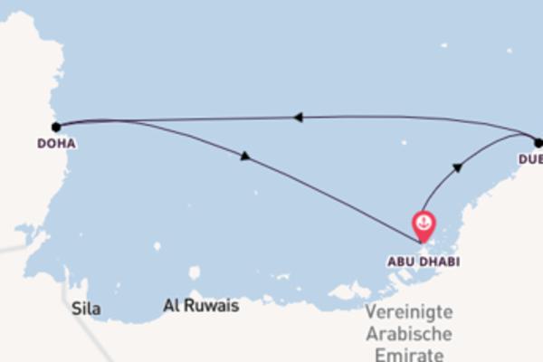 5-tägige Kreuzfahrt bis Abu Dhabi