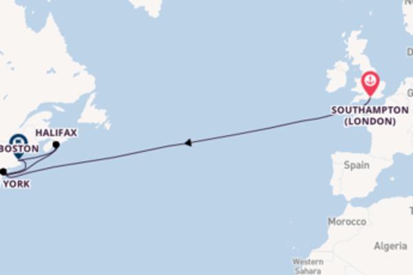 Cruising from Southampton (London) via Halifax