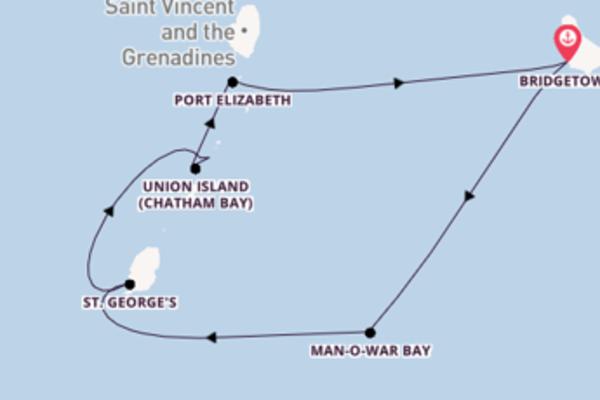 Geniet van het magische Man-O-War Bay met SeaDream Yacht Club
