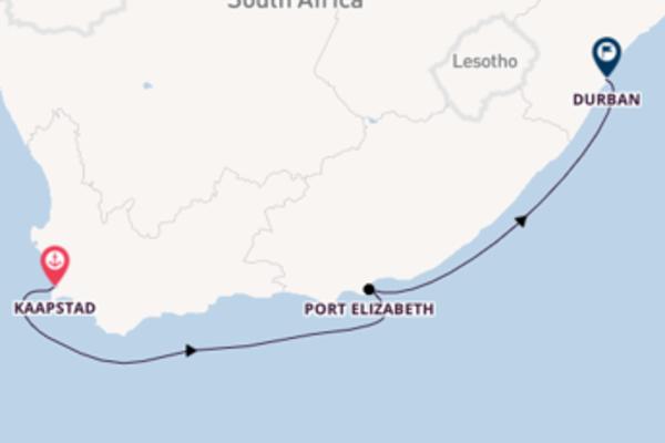 Bezoek Kaapstad, Port Elizabeth en Durban