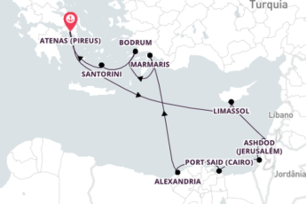 Mágico cruzeiro até Atenas (Pireus)