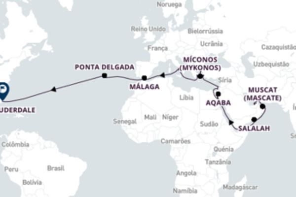 Relaxante passeio com a Holland America Line