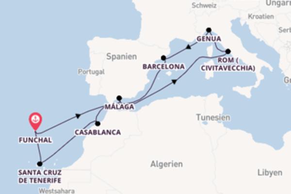 12-tägige Kreuzfahrt bis Funchal
