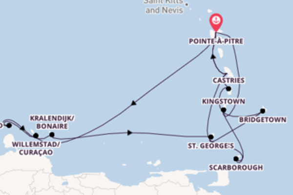 Affascinante viaggio di 16 giorni passando per Kralendijk/Bonaire