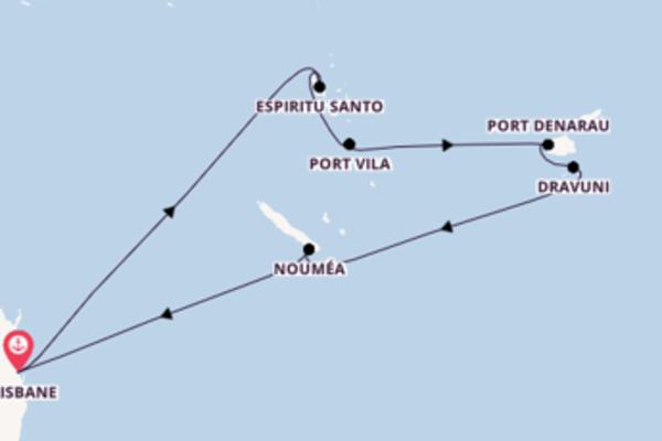 Port Denarau depuis Brisbane pour une croisière de 12 jours