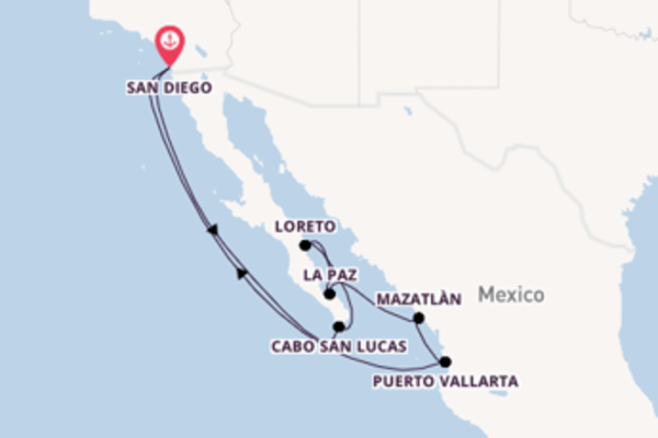 Majestic expedition from San Diego with Holland America Line