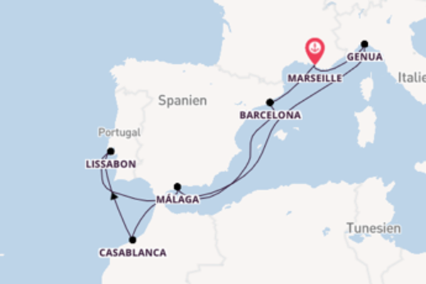 Von Marseille über Málaga in 10 Tagen