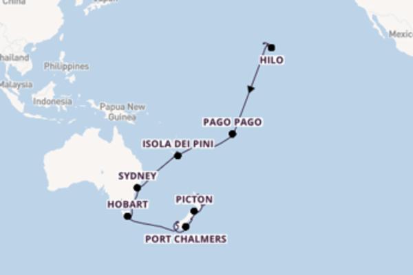 34 giorni di crociera da Honolulu