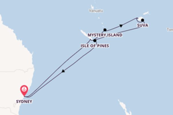 13 day expedition on board the Pacific Adventure from Sydney