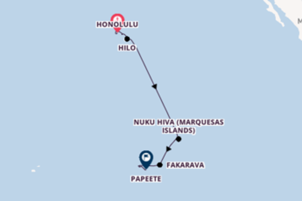 16 day journey from Honolulu
