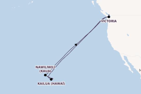 19 jours de navigation à bord du bateau Koningsdam depuis Vancouver