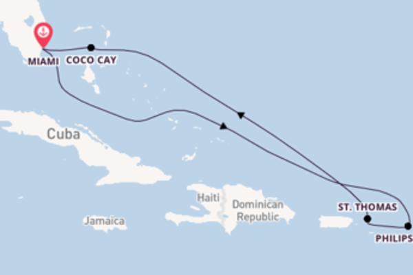 8-daagse cruise met de Symphony of the Seas℠ vanuit Miami