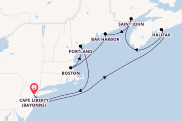 Cruising from Cape Liberty (Bayonne) with the Freedom of the Seas